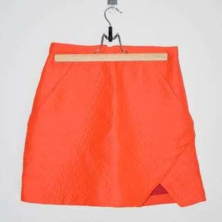 BNWT Kookai Neon Orange Mini Skirt - Size 38 (10)