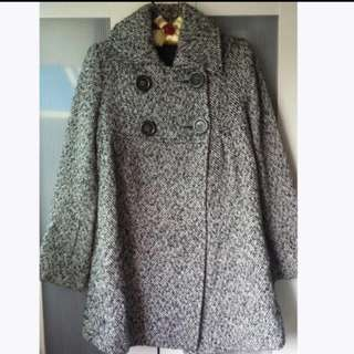 Veeko Gray Winter Coat / Trench Coat