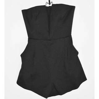 Atmos&Here V Neck Mesh Playsuit - Size 8