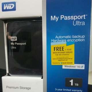 -Brand New WD My Passport Ultra Hard Disc (1TB)