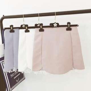 韓版後拉鏈氣質純色蕾絲包臀裙 窄裙