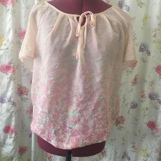 Peach Floral Shirt
