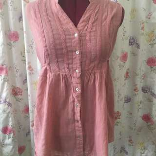 Pink Button Up Tunic