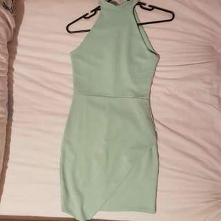 Missguided Faustina Dress In Mint