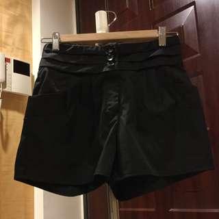 西裝短褲 黑