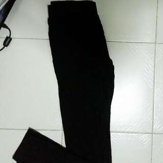 Black Jeggings Free Size