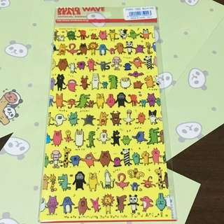 動物大集合  貼紙 獅子/兔子/火鶴/長頸鹿/熊貓/羊駝
