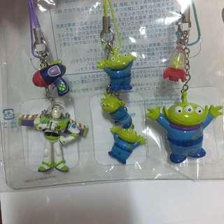 東京迪士尼 三眼怪加巴斯吊飾組