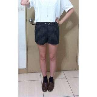 經典黑色格紋短褲