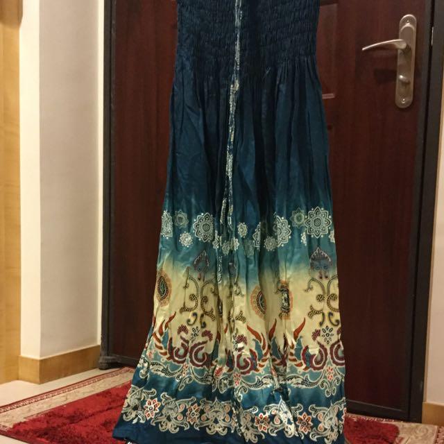 民族風2way 平口洋裝