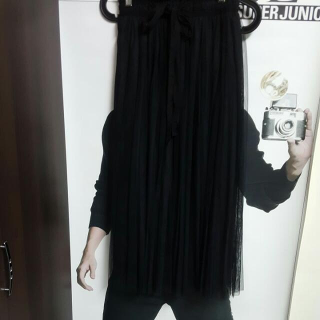 全新3層紗紗裙黑色