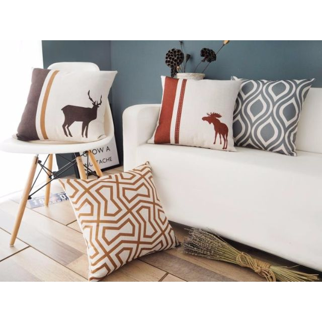 【4款】北歐 幾何 現代 綿麻 POP抱枕 抱枕套 咖啡廳 酒吧 沙發靠墊套