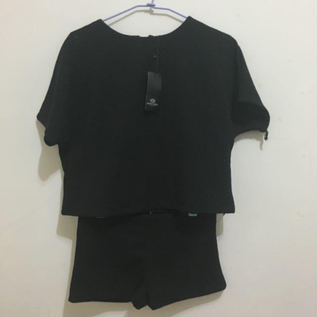 全新✨黑色套裝(可拆開穿)(含運