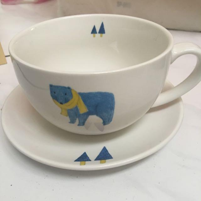 好心情杯盤組藍色小熊系列