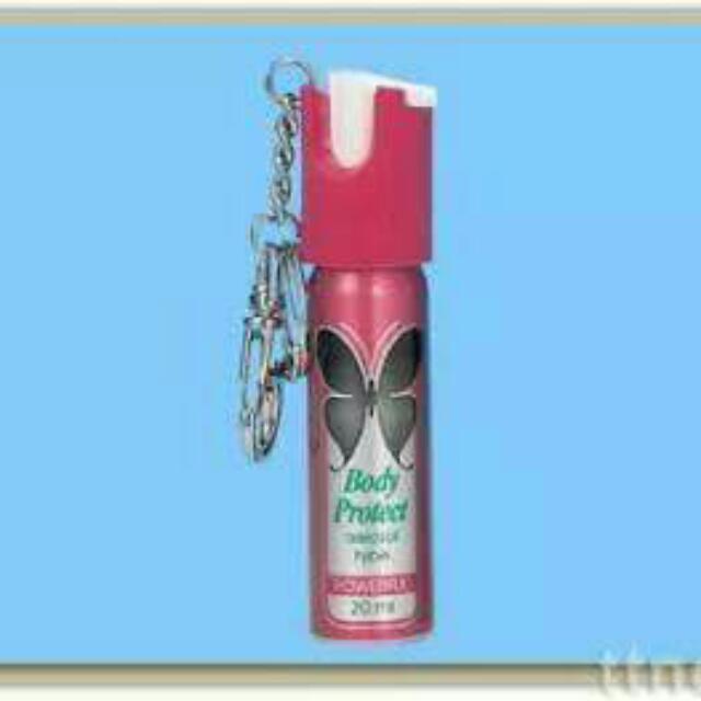 防身用噴霧器,附鑰匙圈方便攜帶