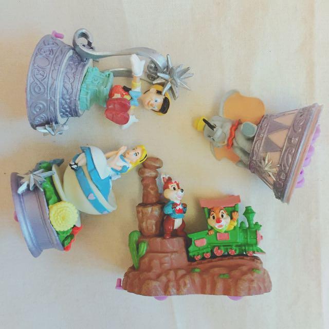 迪士尼 愛麗絲小木偶小飛象奇奇蒂蒂 絕版公仔