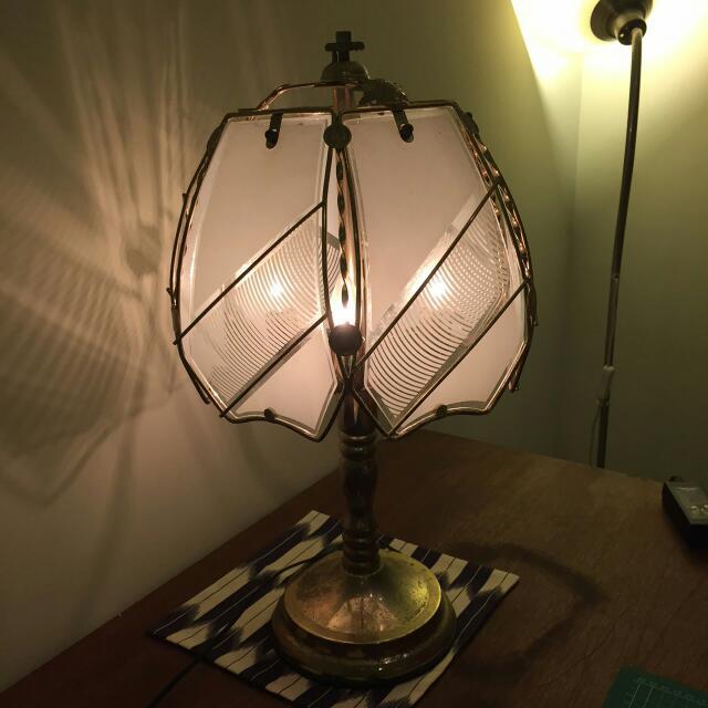 復古 老檯燈 三段式燈光