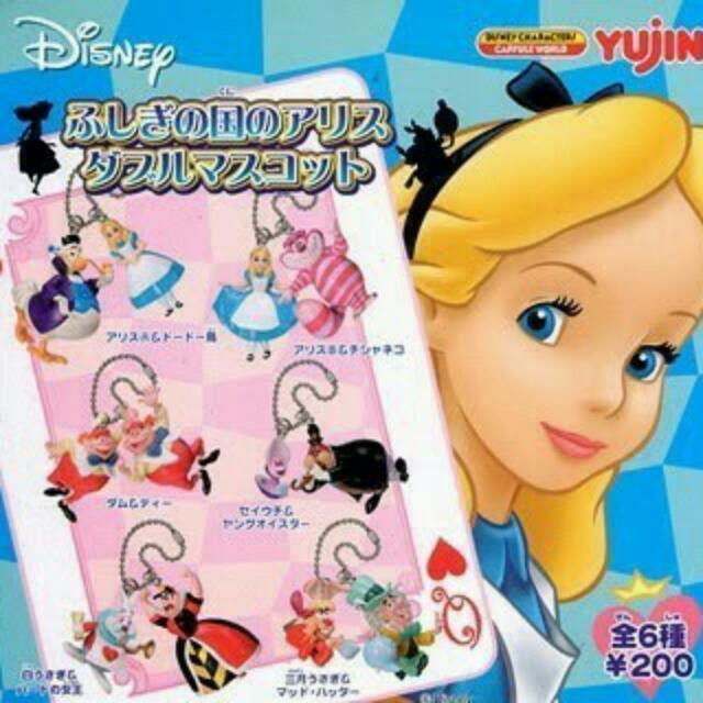 絕版 迪士尼 愛麗絲&妙妙貓 扭蛋 一套