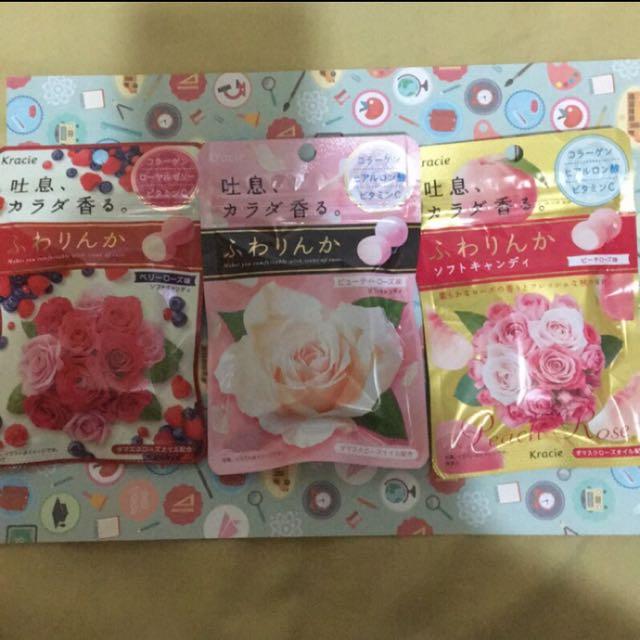 日本 Kracie 玫瑰/玫瑰藍莓/水蜜桃玫瑰糖 1包50元皆現貨