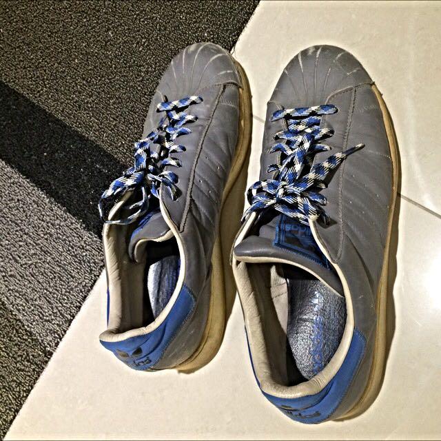 Adidas 藍灰貝殼鞋 US11