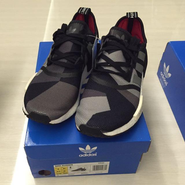 c3fae385e34dd Adidas NMD Geometric Camo Black Grey, Sports on Carousell