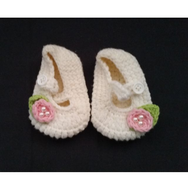 Brand New Baby Girl Crochet Shoes Babies Kids On Carousell