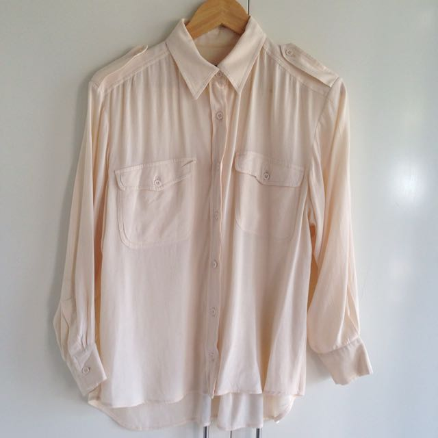 French Connection Cream Pocket Shirt