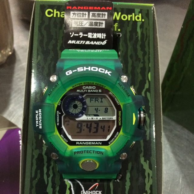best loved 887cc e1880 G Shock Rangeman Jelly Green