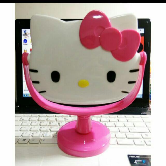 可愛kitty哈囉凱蒂貓 桌上型立鏡 化妝鏡 可拆不佔空間