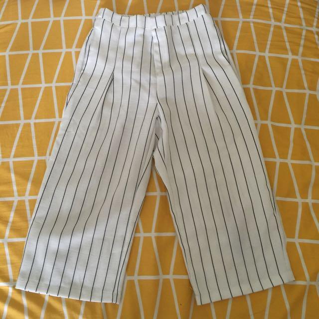 📍lulu's白條紋寬褲📍