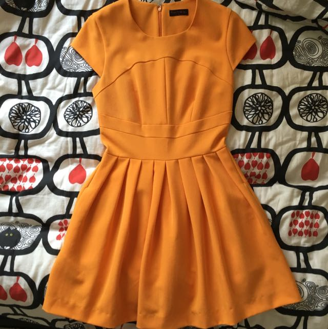 Reduce - MISS SELFRIDGE Orange Skater Dress