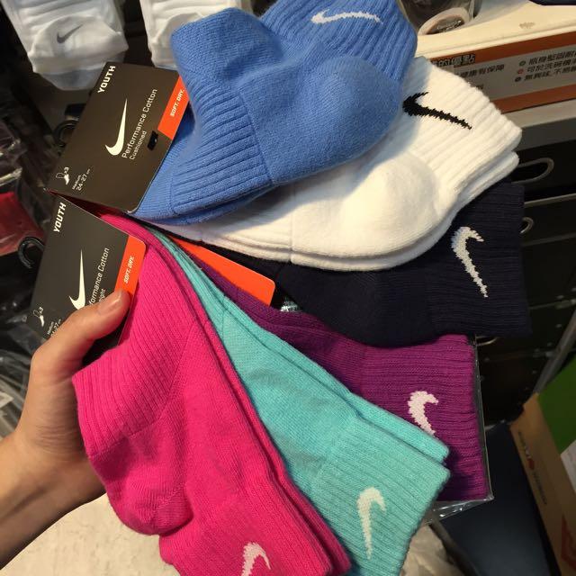 Nike 桃紅 薄荷綠 紫 天藍 深藍 白 運動襪 現貨