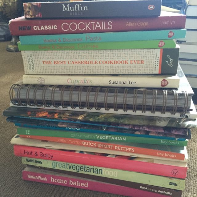 Stack of cook books