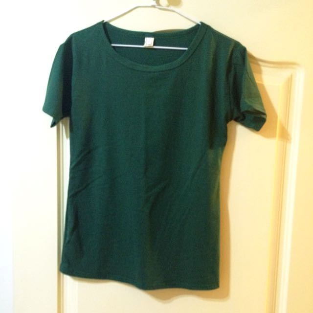 (大降價!)綠色短袖素t