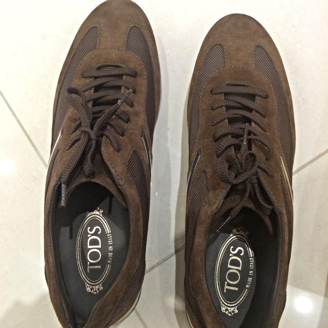 全新TOD'S麂皮咖啡色開車鞋