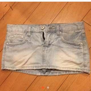 牛仔短褲裙