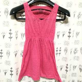粉色小豹紋背心