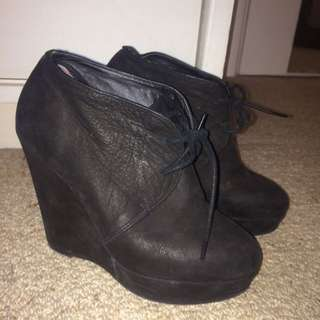 Tony Bianco wedge heels