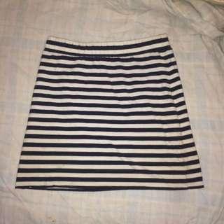 Stripey Tight Mini Skirt