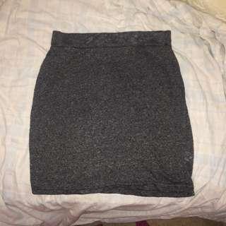 Grey Marl mini skirt (tight)