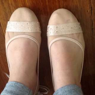 Sparkly Pink Ballet Flats