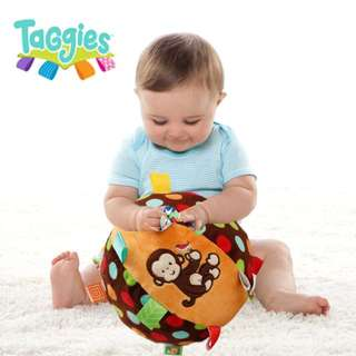 **小饅頭本舖**-出口嬰幼兒早教益智手抓布球車床掛玩具學習布絨響鈴球玩具(含運)