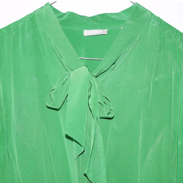 100% Pure Silk Jigsaw Green Blouse. Size 14 Womens.