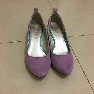日本 撞色楔型鞋 M 36