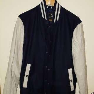 jeans west varsity jacket