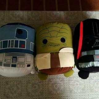 star wars plush set of 3