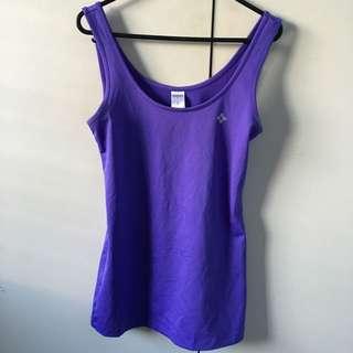 Purple Sports Top Size 8