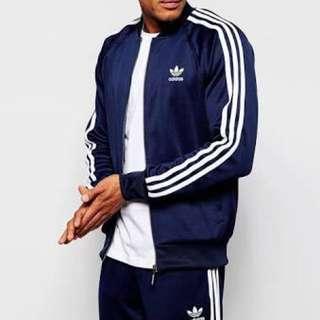 Navy Adidas Originals Jacket l-Xl
