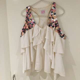 Sass And Bide Sequinned Top