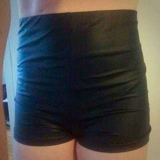 Supre - High-waisted Pleather Shorts